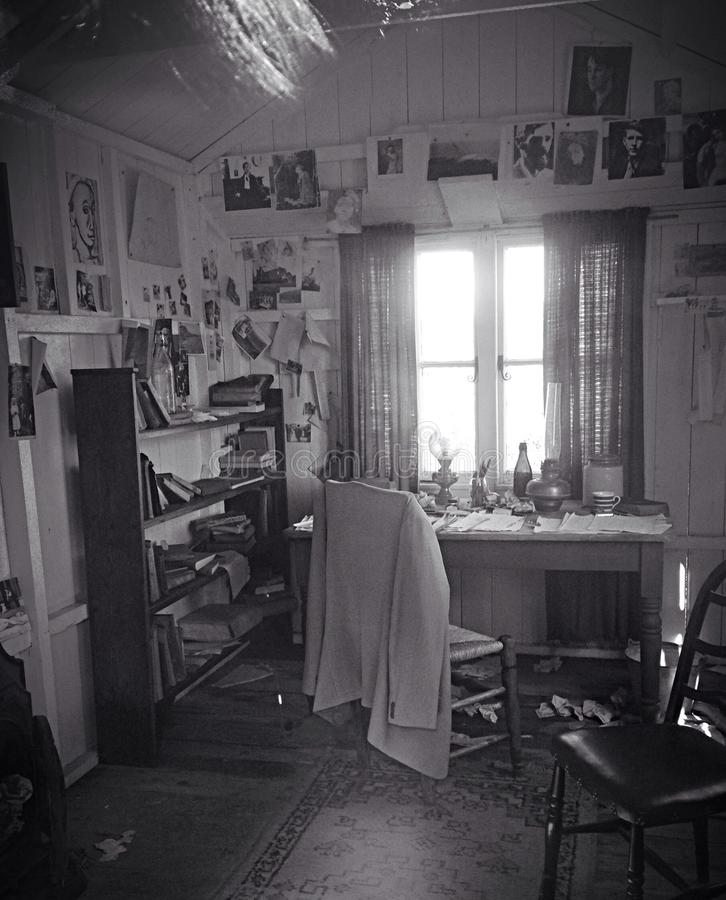 Dylan Thomas Writing Room lizenzfreie stockfotografie