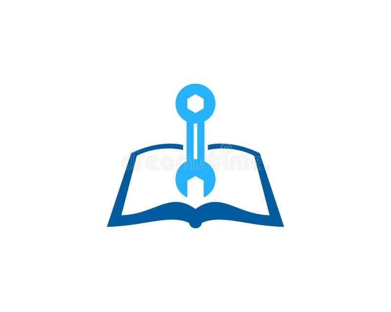 Dylemata loga ikony Książkowy projekt royalty ilustracja