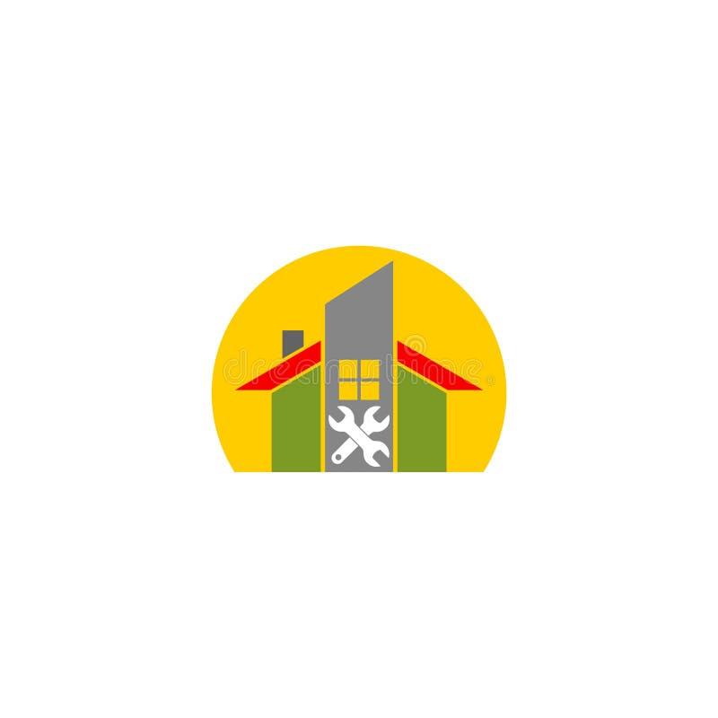 Dylemata logo Domowy Prosty projekt royalty ilustracja