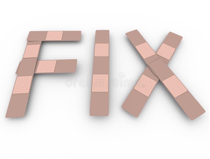 Dylemata słowo Bandażuje Chwilowego rozwiązanie problem Rozwiązującego ilustracja wektor