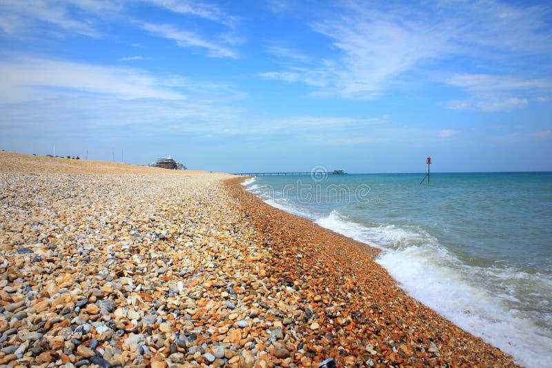 Dylowy plażowy Kent UK zdjęcie stock