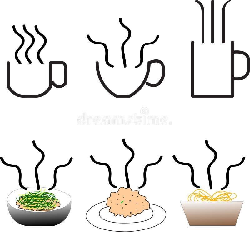 Dym jedzenie i dink ilustracji
