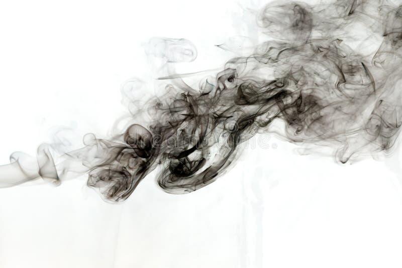 Dym na biały tle ilustracji