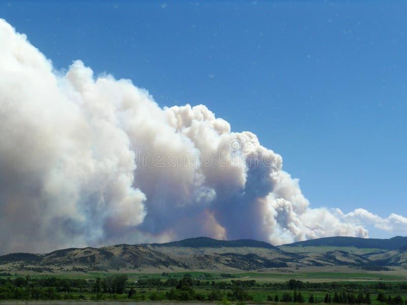 Dym od Monata pożaru Czerwiec 2013 obrazy stock