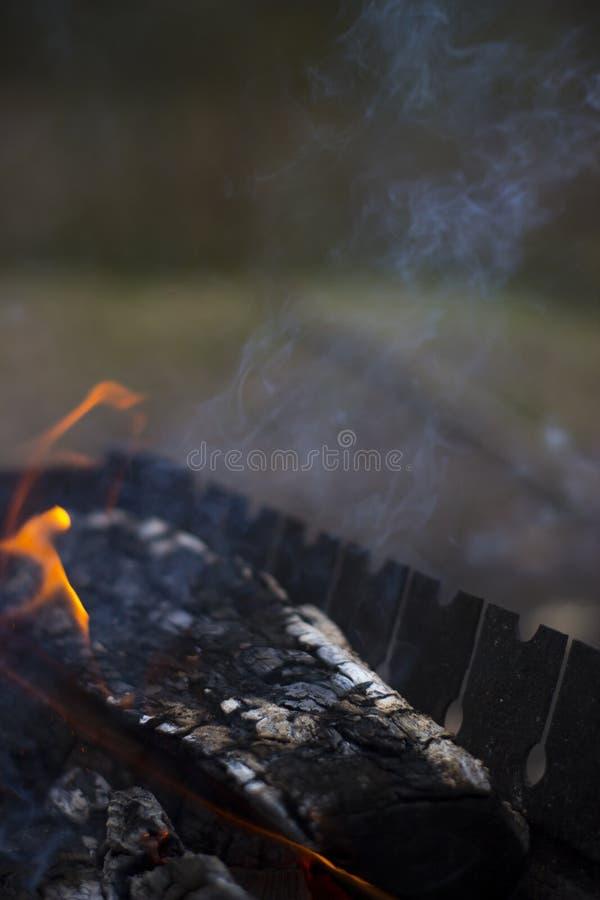 Dym od ogienia zdjęcia royalty free