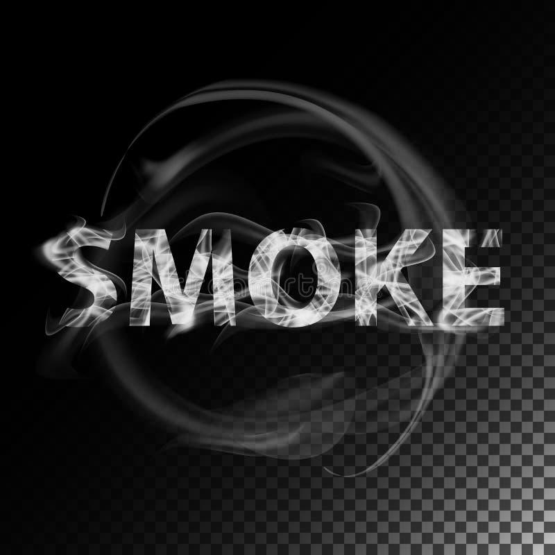 dym tekst Realistyczny papierosu dymu fala wektor ilustracji