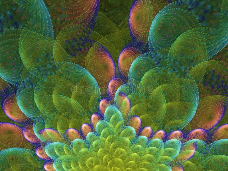 Dymiące chmury kolorowy płomienia fractal royalty ilustracja
