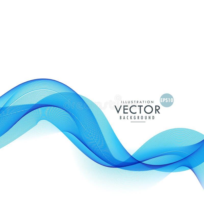 Dymiący błękit macha abstrakcjonistycznego tło ilustracja wektor