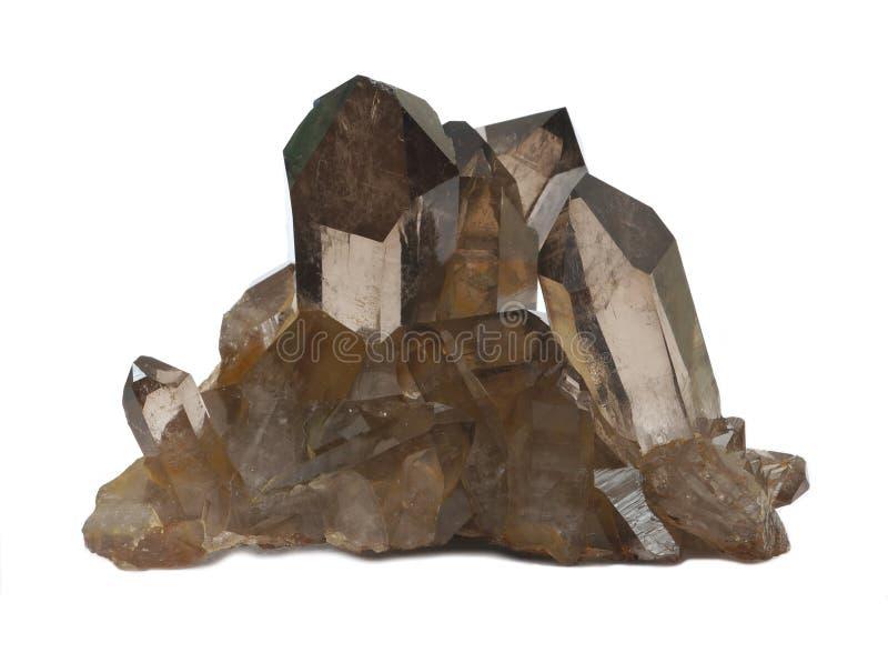 Dymiący Kwarcowi kryształy zdjęcia royalty free