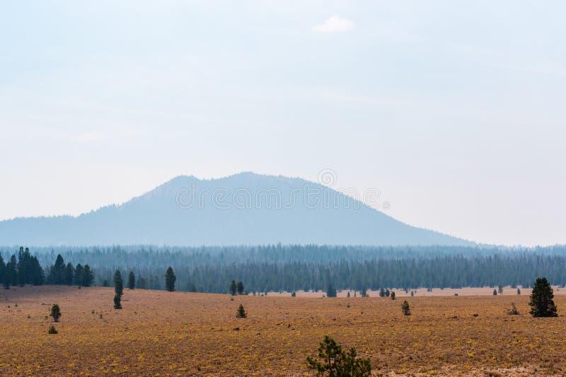 Dymiący wzgórza Brown pole zdjęcia stock