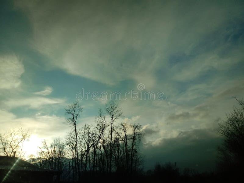 Dymić chmury zdjęcia royalty free