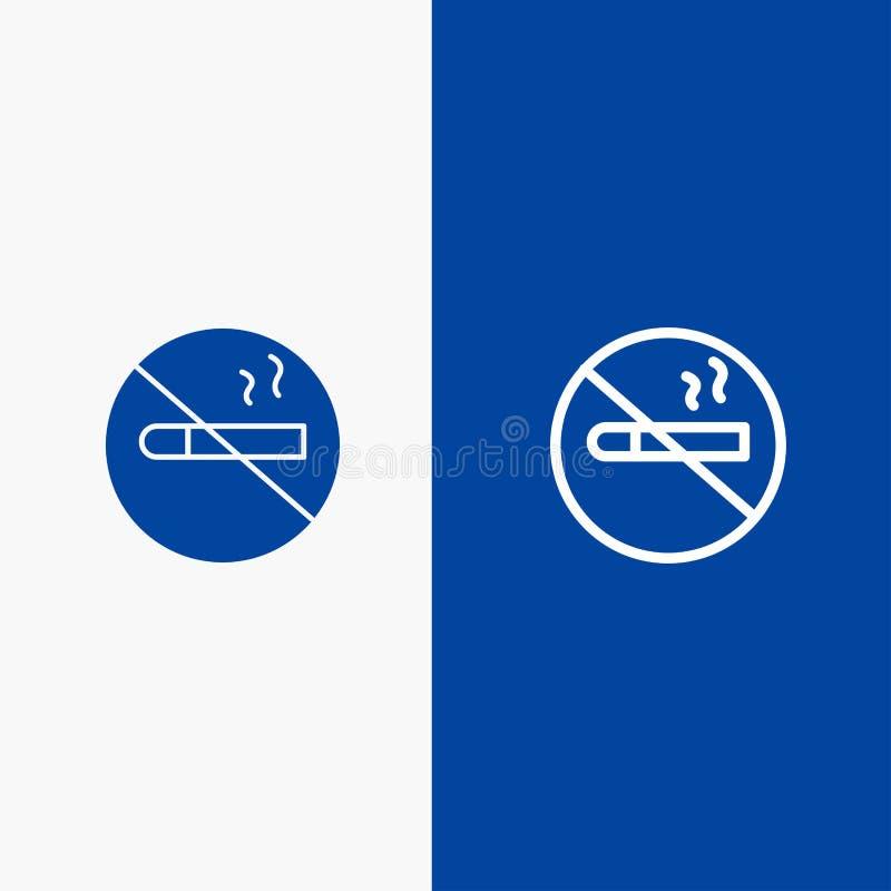Dymić, Palenie Zabronione, Papierosowy, zdrowie linii, Stały sztandar ilustracji