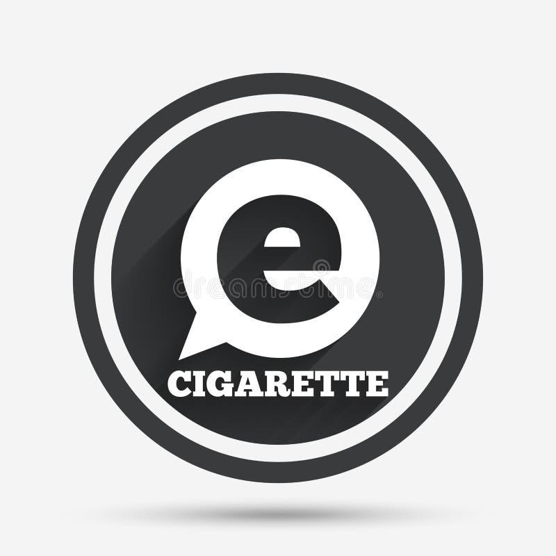 Dymić szyldową ikonę papierosu symbol ilustracji