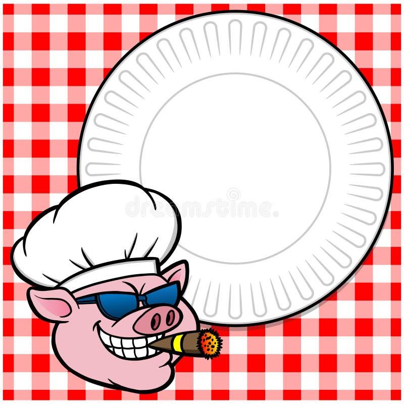 Dymienia BBQ Cookout royalty ilustracja