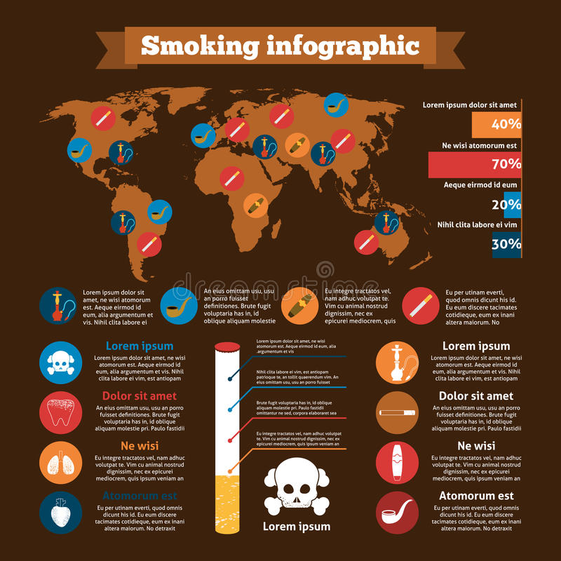 Dymienia Infographics set royalty ilustracja