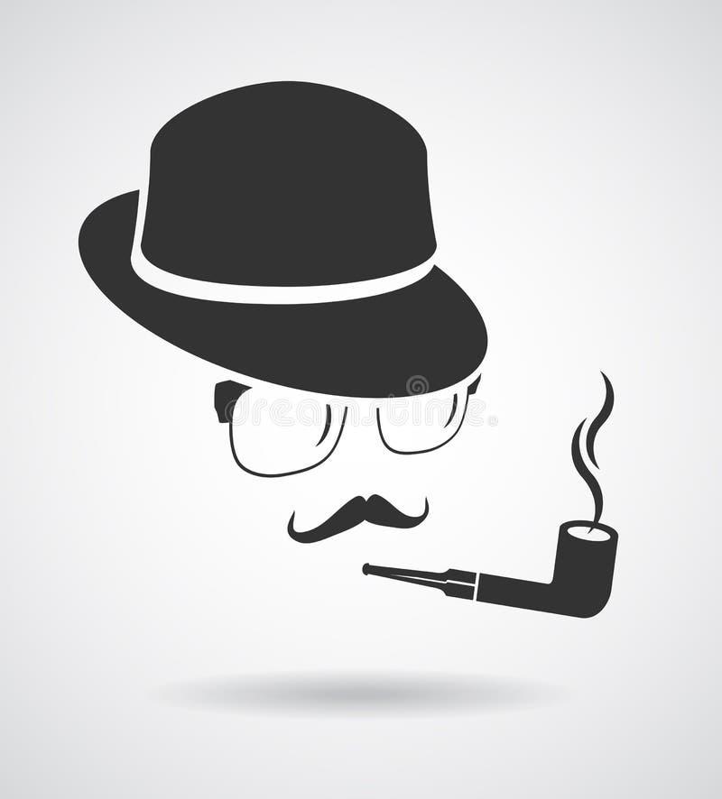 Dymienie dżentelmen Rocznika projekta elementy ustawiający jak ikona ilustracja wektor