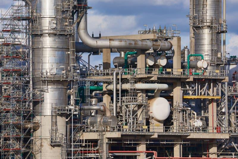 Dymienie fabryka chemikaliów zdjęcie stock