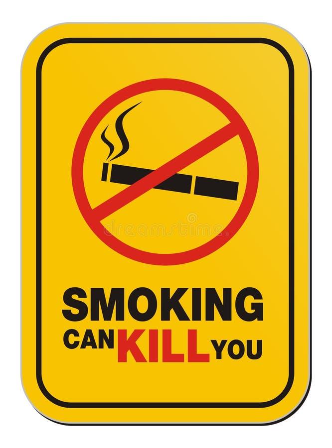 Dymienie może zabijać ciebie szyldowego ilustracji