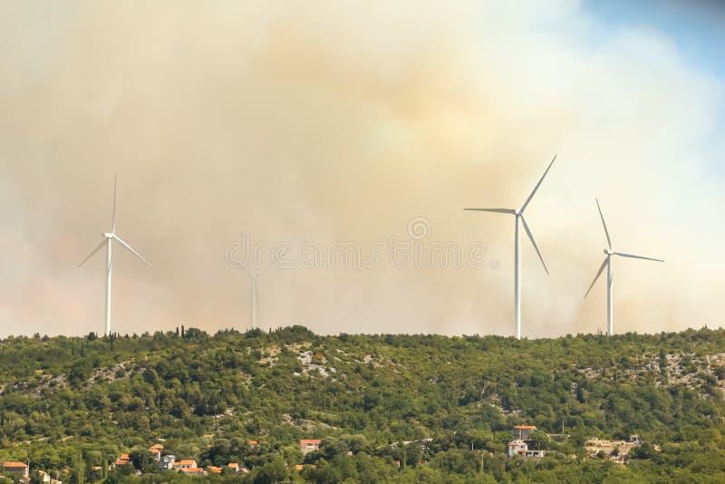 Dymna chmura od pożaru lasu fotografia royalty free