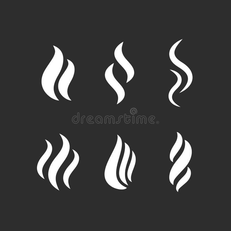 Dymna ikona royalty ilustracja