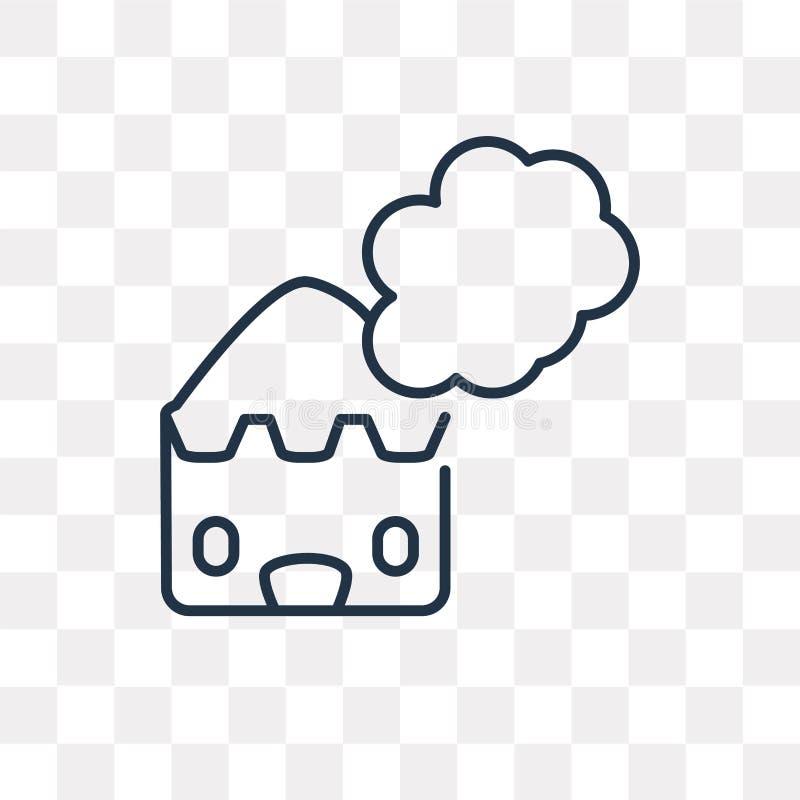 Dymna wektorowa ikona odizolowywająca na przejrzystym tle, liniowy Smo royalty ilustracja