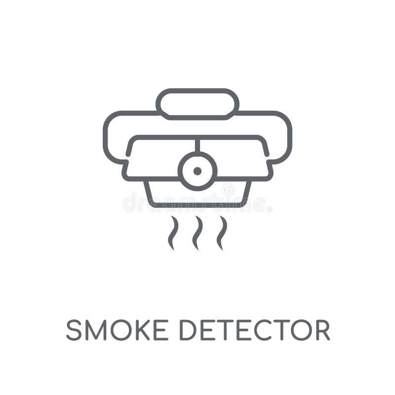 dymnego detektoru liniowa ikona Nowożytny konturu dymnego detektoru logo c ilustracja wektor