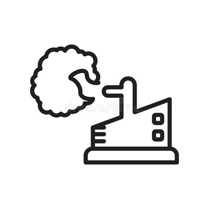 Dymnego granata ikony wektoru znak i symbol odizolowywający na białym tle, Dymnego granata logo pojęcie, konturu symbol, liniowy  ilustracji