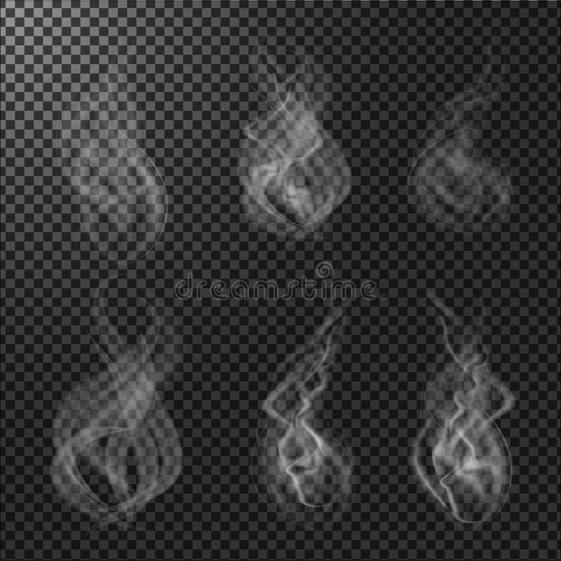 Dymni wektory na przejrzystym tle ilustracja wektor