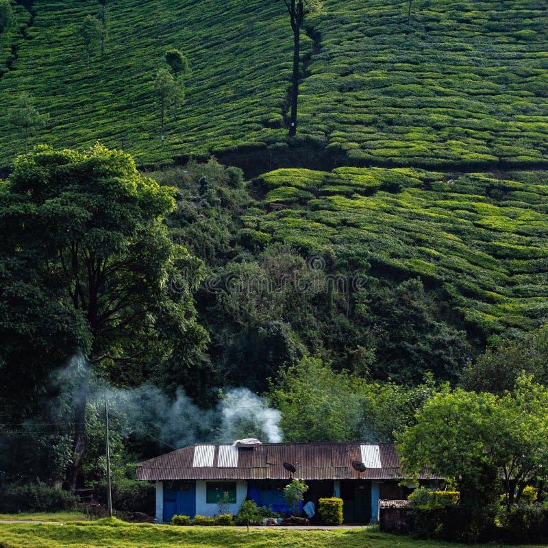 Dymny dom w Kerala ind obraz stock
