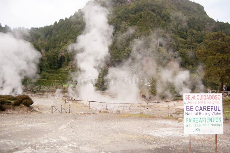 Dymny geotermiczny nawadnia obraz royalty free