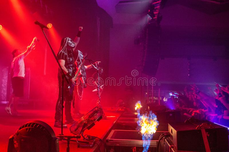 Dymytry - czech metal band. Performing life stock photography