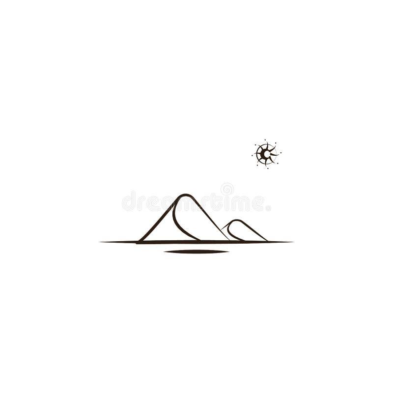 dyn ökensymbol Beståndsdel av ökensymbolen för mobila begrepps- och rengöringsdukapps Räcka attraktiondyn, kan ökensymbolen använ royaltyfri illustrationer