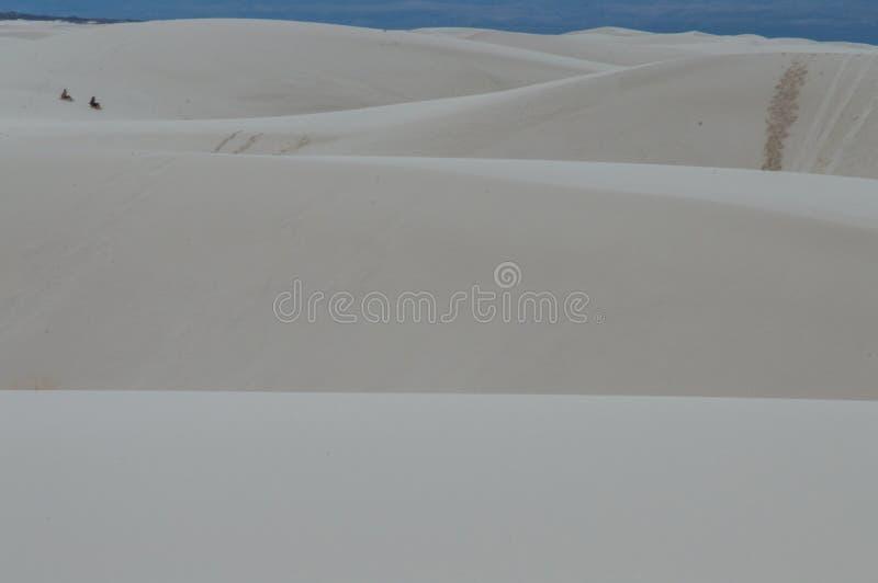 Dyn av den nationella monumentet för vita sander royaltyfri foto