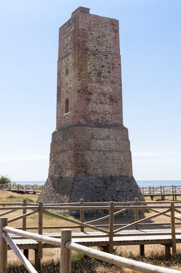 Dyn av den naturliga reserven för artola som lokaliseras i Cabopino Marbella Costa del Sol Malaga Spain arkivbilder
