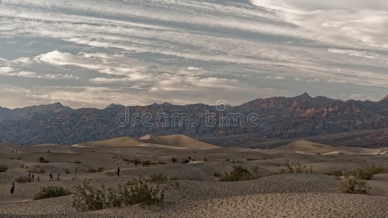 Dyn Death Valley, Kalifornien royaltyfria foton