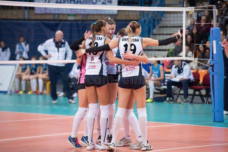 Dynama Kazan drużyna raduje się zdjęcia stock