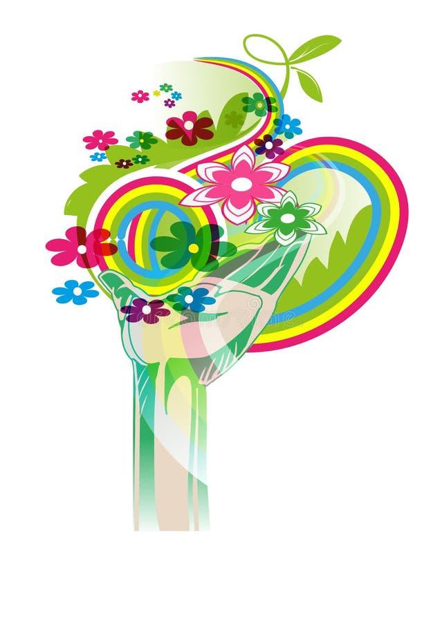 Dynami hippie illustration stock