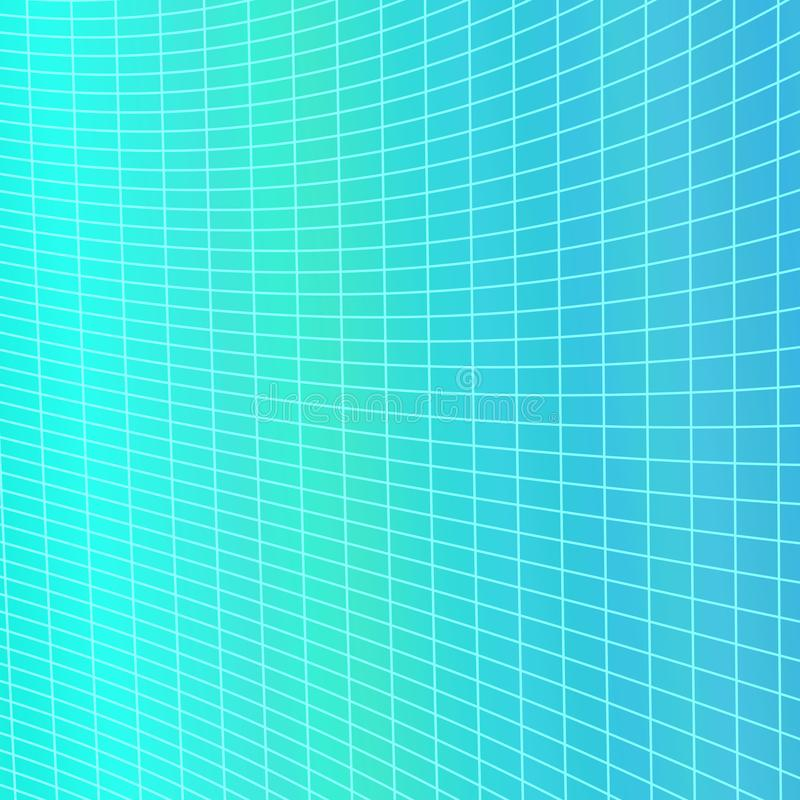 Dynamic abstract geometrical grid background - vector graphic from curved angular striped grid stock illustration