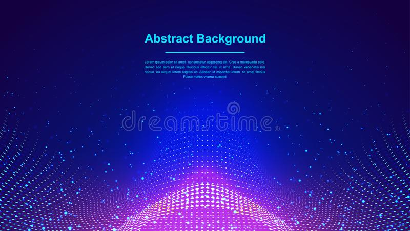 Dynamic abstract liquid flow particles background. Abstract particles background. Eps10 Vector background.  royalty free illustration
