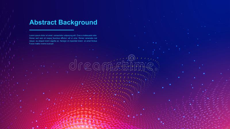 Dynamic abstract liquid flow particles background. Abstract particles background. Eps10 Vector background.  vector illustration