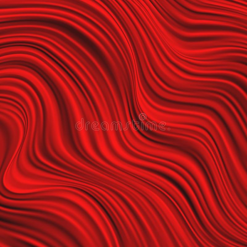 Dynamic abstract red liquid template background with curves lines and shadow. Fashion flyer, brochure, booklet and stock illustration