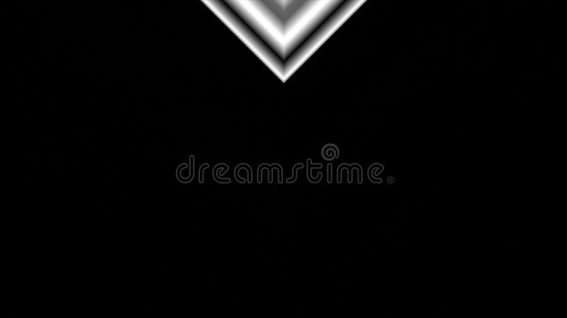 Dynamic black and white transition vertical animation with V shapes covering the screen and then inverting to reveal a stock illustration