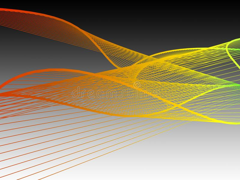 Dynamic and Bright Linear Spiral with Colorful Gradient royalty free stock photo