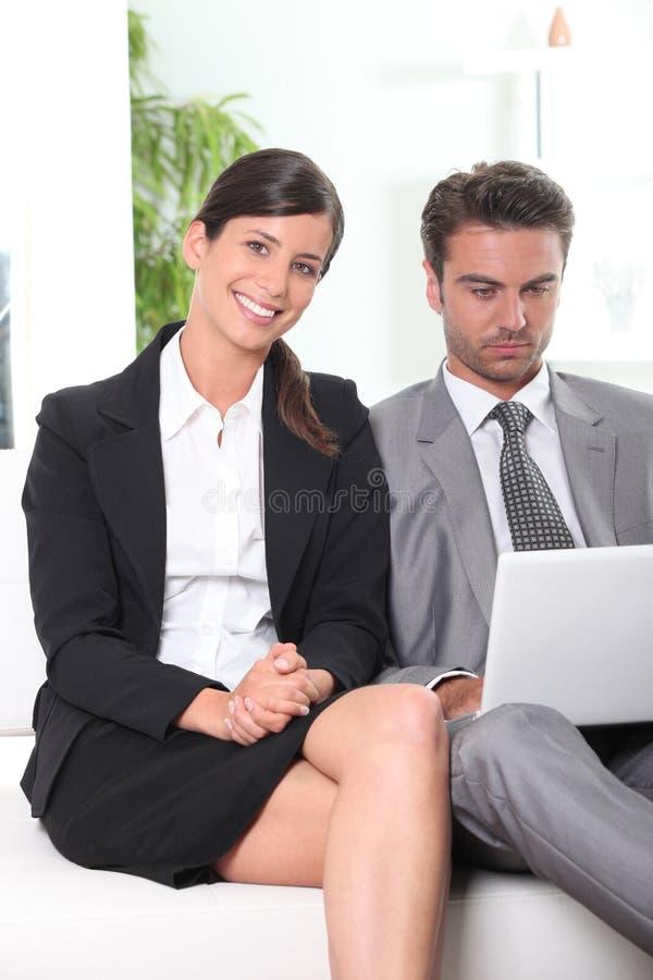 Dynamic business partnership royalty free stock image