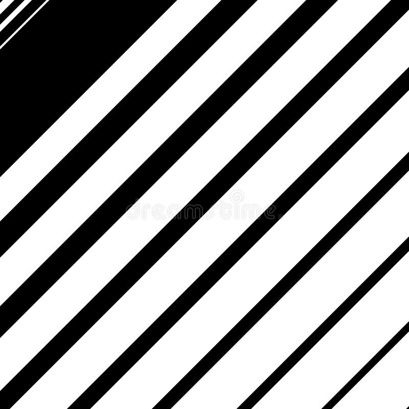 Dynamic diagonal lines pattern. Parallel straight lines with irregular width. Gradation, halftone background royalty free illustration