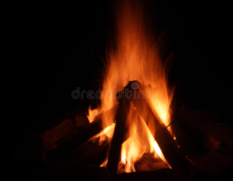 Dynamic fireplace royalty free stock image