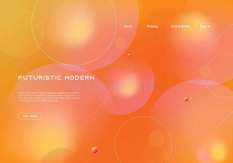 Dynamic futuristic modern background for landing page template. Vector eps 10. Gradient multicolor motion mesh orange colors theme. 3d, liquid, abstract, fluid royalty free stock photo