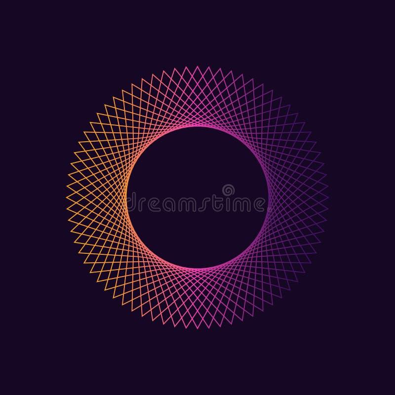Dynamic gradient circle shape. royalty free illustration