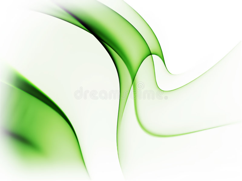 Dynamic green abstract background on white. Dynamic green abstract background, wavy lines on white background