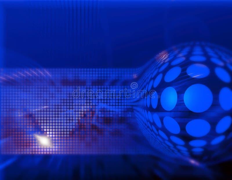 Dynamic hi-tech abstract backg vector illustration